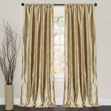 Brown Gold Curtains Rod Pocket Grommet Top Tab Top Pleat Two Panels Curtain