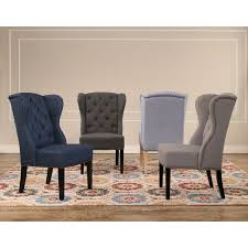 abbyson sierra tufted fabric wingback dining chair free shipping
