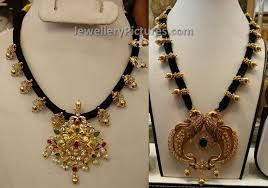 black gold necklace jewelry images Black dori muvvala necklace jewellery designs jpg