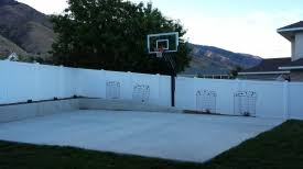 Basketball Court In Backyard Cost by Photos Of Basketball Court Ball Containment Fencing