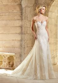 crystal beading on net and lace wedding dress style 2774 morilee
