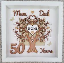 50th wedding anniversary gift personalised handmade 50th golden wedding anniversary gift frame