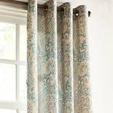 Teal Living Room Curtains Seasons Paisley Teal 84