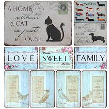 placa de fam iacute lia popular buscando e comprando fornecedores uma casa sem um gato E apenas uma casa sinal da lata sinal do metal decoracao