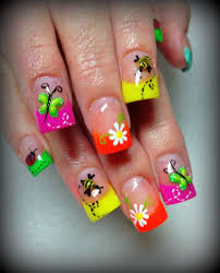 Easter Nail Designs Pretty Summer Nails Fashion Nails Flowers Bee Polish Summer Nails
