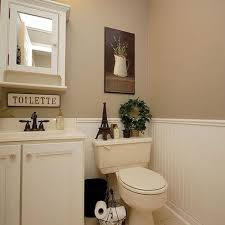 Beadboard Bathroom Wall Cabinet by White And Tan Bathroom White Wainscoting Tan Walls For The