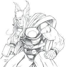 Thor Coloriage Thor A Colorier Et Imprimer  dmatechinfo