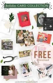 christmas card template bundle template idea