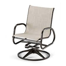 Aluminum Sling Patio Chairs Telescope Casual Gardenella Sling Swivel Rocker Outdoor Swivel