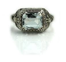 antique aquamarine engagement rings antique aquamarine engagement ring 1 50 carat signed belais