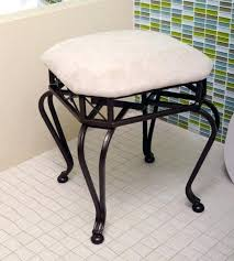 Vanity Stools For Bathrooms Chrome Vanity Stool Kulfoldimunka Club