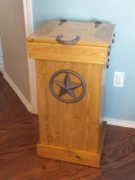 Kitchen Garbage Can Cabinet Wood Trash Cabinets Gallery Of Wood Items