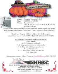 merced thanksgiving deaf and of hearing service center