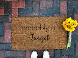 probably at target doormat funny doormat coir doormat