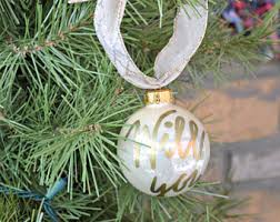 Personalized Wedding Christmas Ornaments Wedding Proposal Etsy