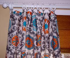 Custom Drapery Fabric Orange And Teal Curtains Mandarin Rosa Premier Fabric Two Custom