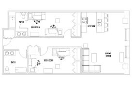 2 bed 2 bath floor plans floor plans crossings student housing