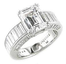 engagement rings with baguettes chanel set baguette engagement ring stardust diamonds