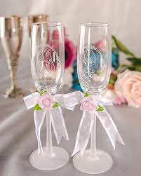 wedding glasses precious moments groom wedding toasting glasses