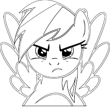 rainbow dash face coloring pages coloringstar