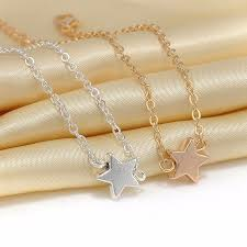 Vestibulum Sapin Prin Quam by Five Pointed Start Pentagram Ladies Bracelet Charm Rose Gold