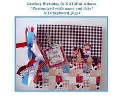 Western Photo Album Baby Boy Scrapbook Western Pages Themed Albums Style Album