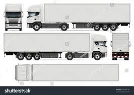 semi trailer truck semitrailer truck vector mockup car branding stock vector