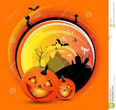 halloween background cat and pumpkin vector orange halloween spooky background royalty free stock image