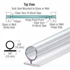 shower door large translucent vinyl bulb seal shower door sweeps