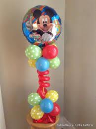 mickey mouse balloon arrangements balloon decor of central california centerpiece