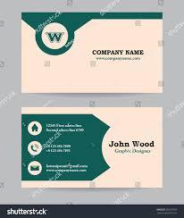 Biz Card Template Business Card Business Card Template Business Stock Vector