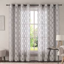 Curtains Drapes Coral Colored Curtains Geometric Curtains Drapes Youll Love