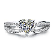 aliexpress buy 2ct brilliant simulate diamond men genuine white gold marriage ring heart 2ct setting paved 7