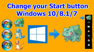 how to change your start button windows 10 8 1 7 youtube