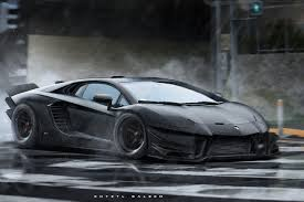 lamborghini aventador matte black very aggressive aventador styled aventador by kyza hr image at