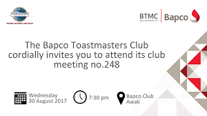 bapco toastmasters home