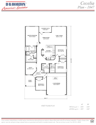 Floor Plan Source by Cecelia Spring Brook Baton Rouge Louisiana D R Horton