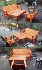 Patio Furniture With Pallets by Awesome Crafting Ideas With Used Shipping Pallets Pallet Wood