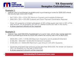 Va Max Loan Amount Worksheet by Va Guaranteed Home Loans Ppt