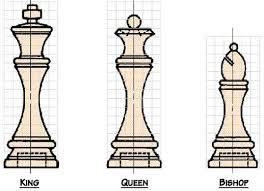 free chess set woodworking plans from shopsmith king queen bishop