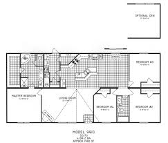 Bedroom Floor Planner by 4 Bedroom Floor Plan C 9910 Hawks Homes Manufactured