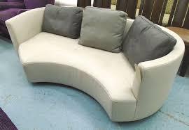 roche bobois tangram round sofa upholstered in an ivory verona