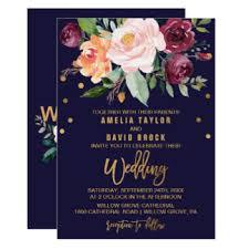 burgundy wedding invitations announcements zazzle