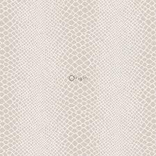 silk printed non woven wallpaper snake skin shiny bronze origin