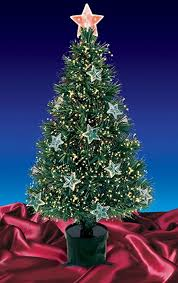 3 pre lit fiber optic artificial tree with