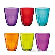 bicchieri colorati bormioli set 6 bicchieri colorati ercole bormioli madeincucina