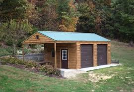 14x32 log garage 2 car garage byler barns