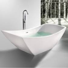Freestanding Bathtub Canada Viola Freestanding Solid Surface Stone 67 U201d Tub Bathtubs