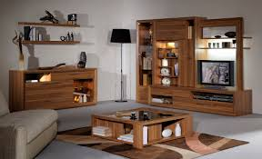 varnished wood tv cabinet with chrome legs with white stain led tv