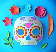 day of the dead party ideas color in calavera masks activity